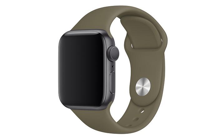 Kaki sportbandje Apple Watch najaar 2019