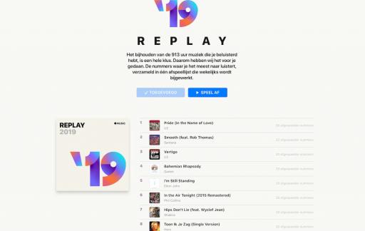 Apple Music Replay overzicht