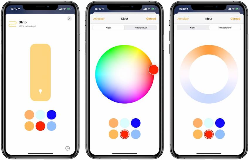 Licht bedienen vanuit Woning app