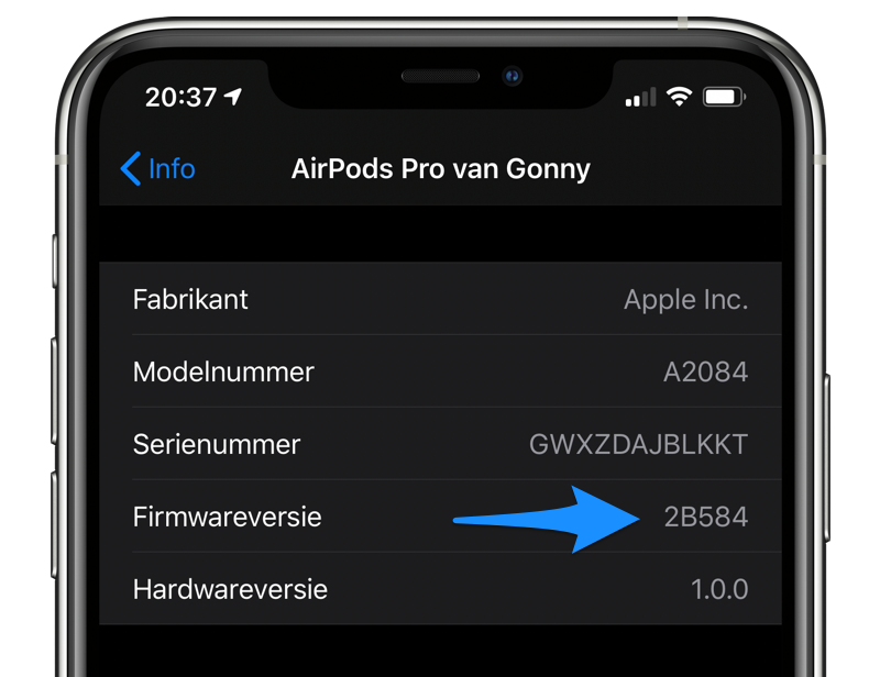 AirPods Pro firmware