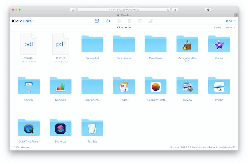 iCloud.com voor Windows en Mac