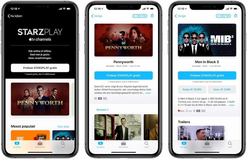 Starzplay in de TV-app