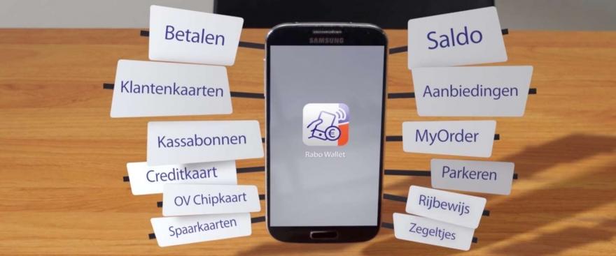 Android Wallet app van Rabobank