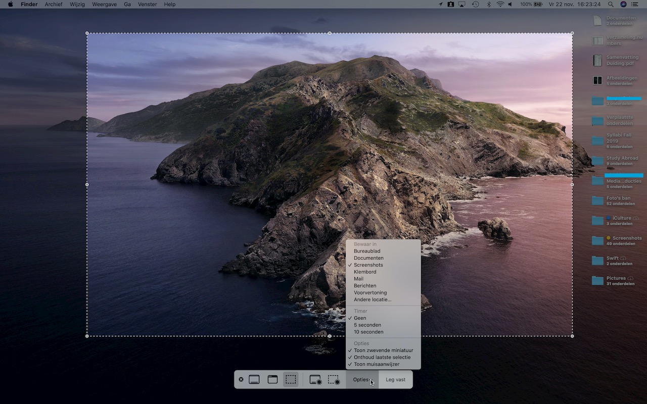 Screenshot Mac locatie wijzigen