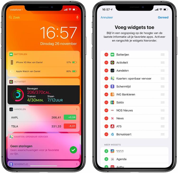 Widgets in iOS 13