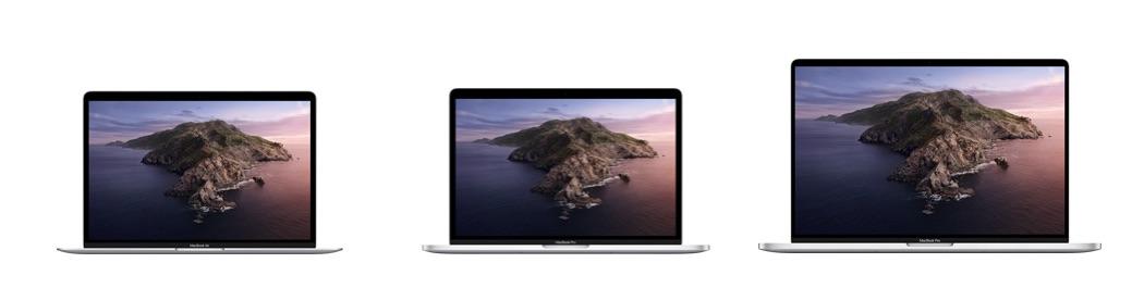 MacBook vergelijken met verschillende schermen.