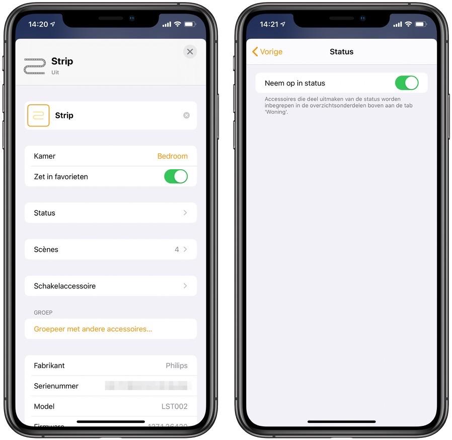 Status Woning-app iOS 13