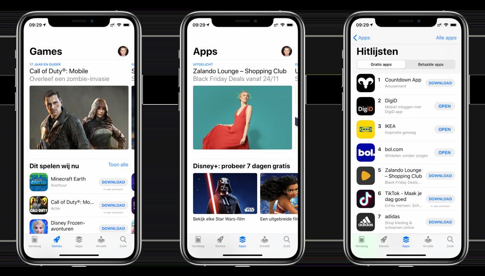 App Store: games, apps en hitlijsten.