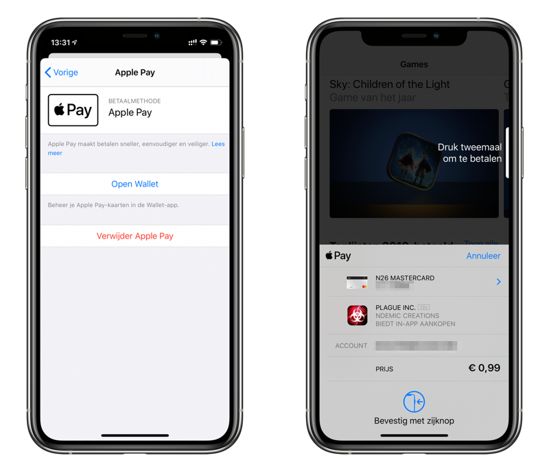 Apple Pay in de App Store.