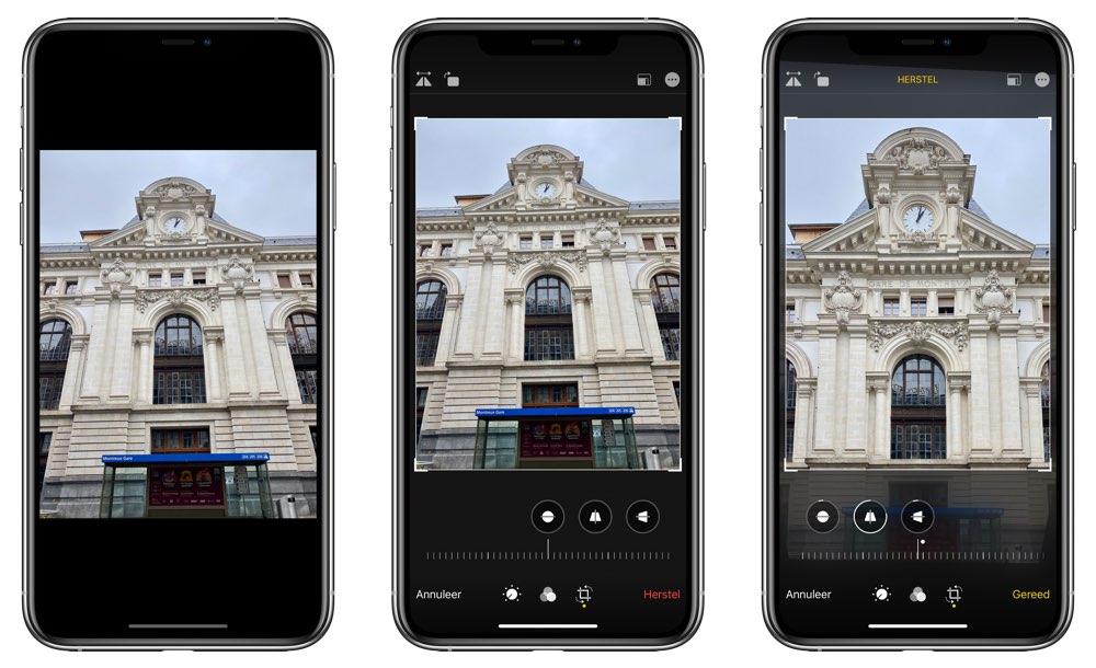 Foto rechttrekken op iPhone