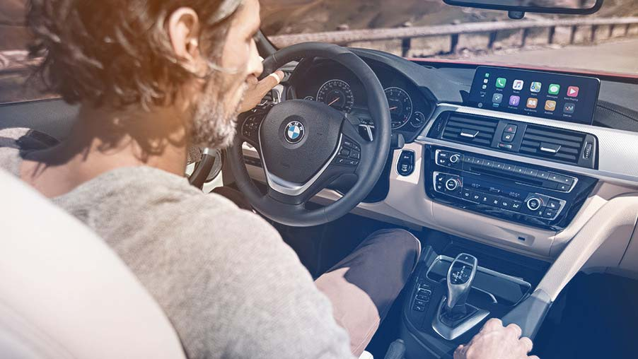 BMW met CarPlay in systeem.