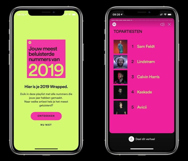 Spotify Wrapped 2019 jaaroverzicht.