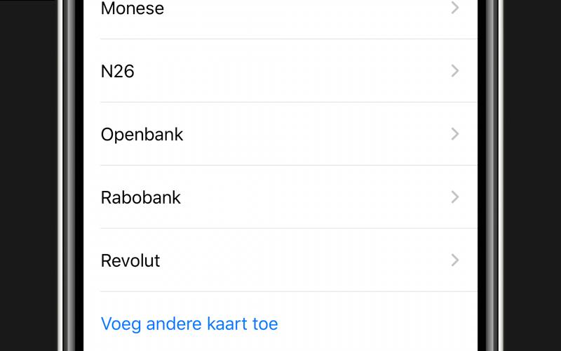 Apple Pay toevoegen via Openbank.
