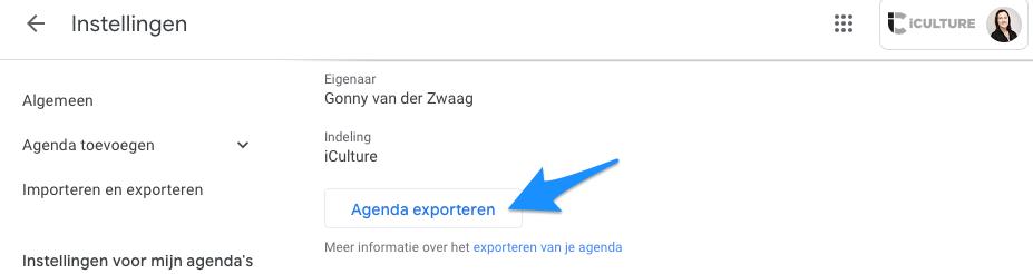 Google Agenda exporteren