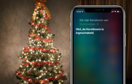 Siri HomeKit kerstboom.