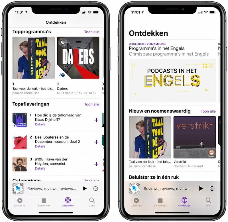 Ontdekken Podcasts iOS 13