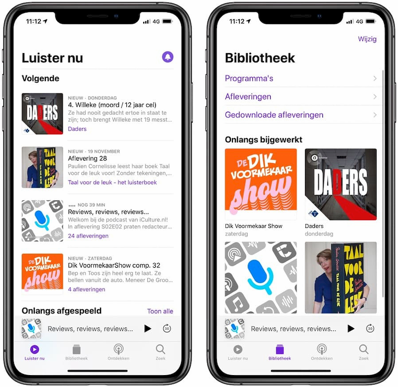 Podcasts app iOS 13