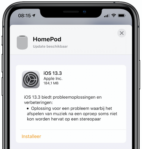 HomePod iOS 13.3 update