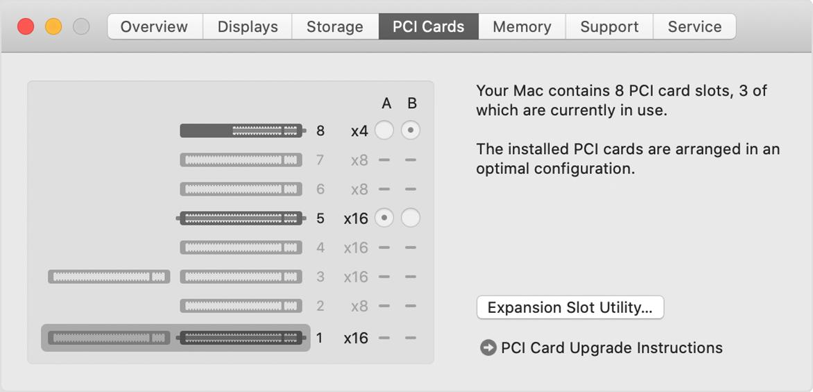 Mac Pro systeemoverzicht PCIe