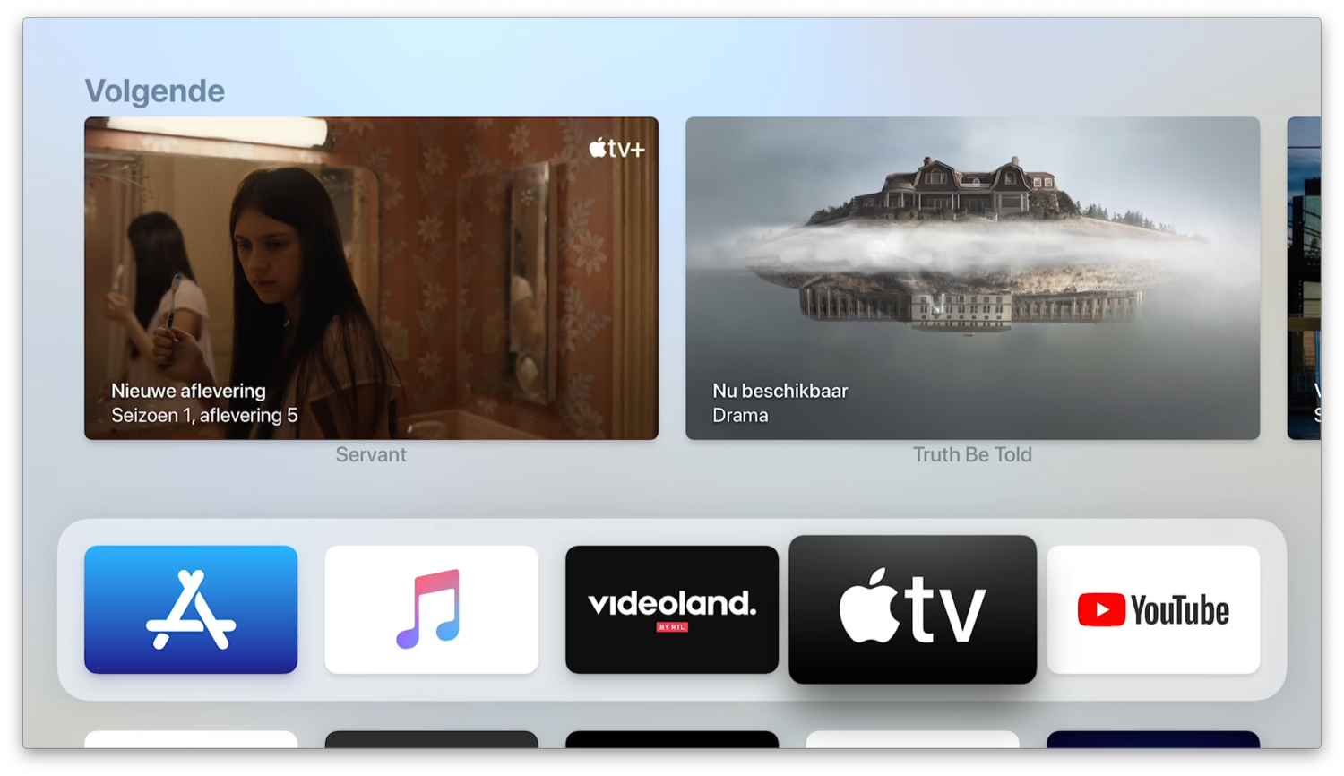 Kijklijst in Top Shelf voor TV-app op Apple TV.