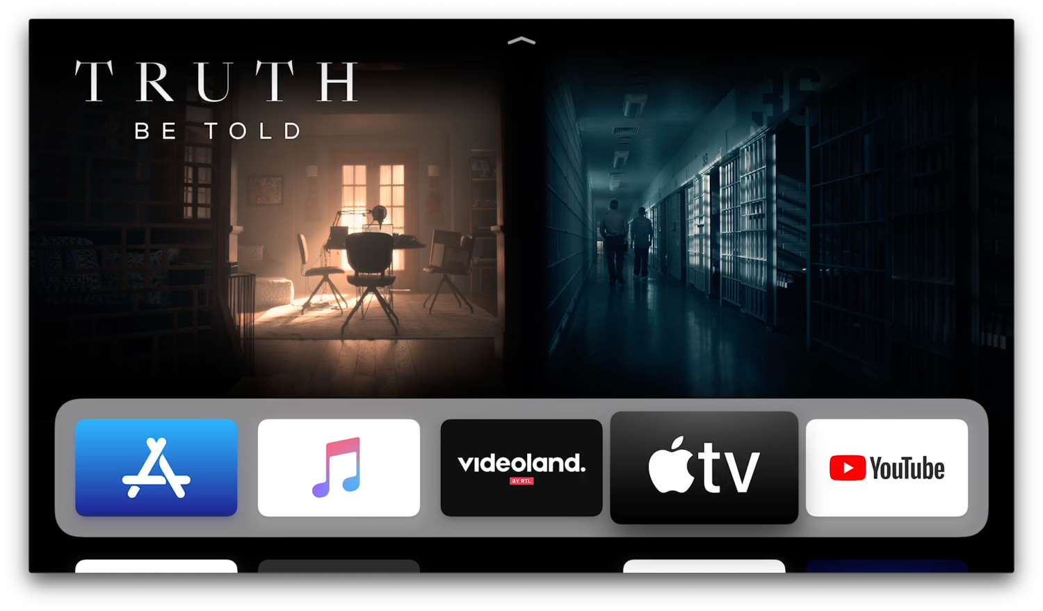 Aanbevolen films en series in Top Shelf voor TV-app op Apple TV.