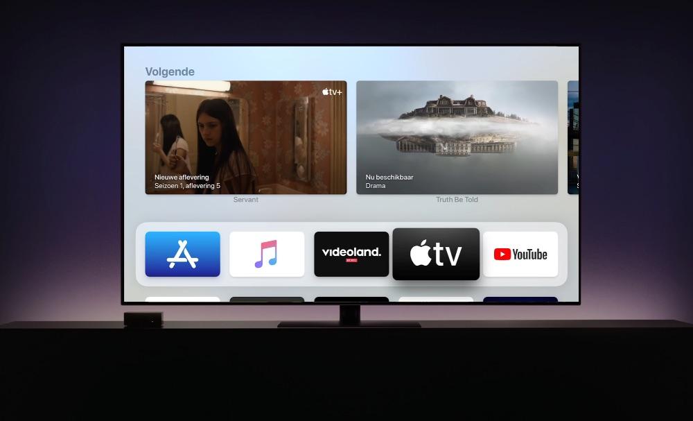 Volgende kijklijst van TV-app in de Top Shelf op de Apple TV.