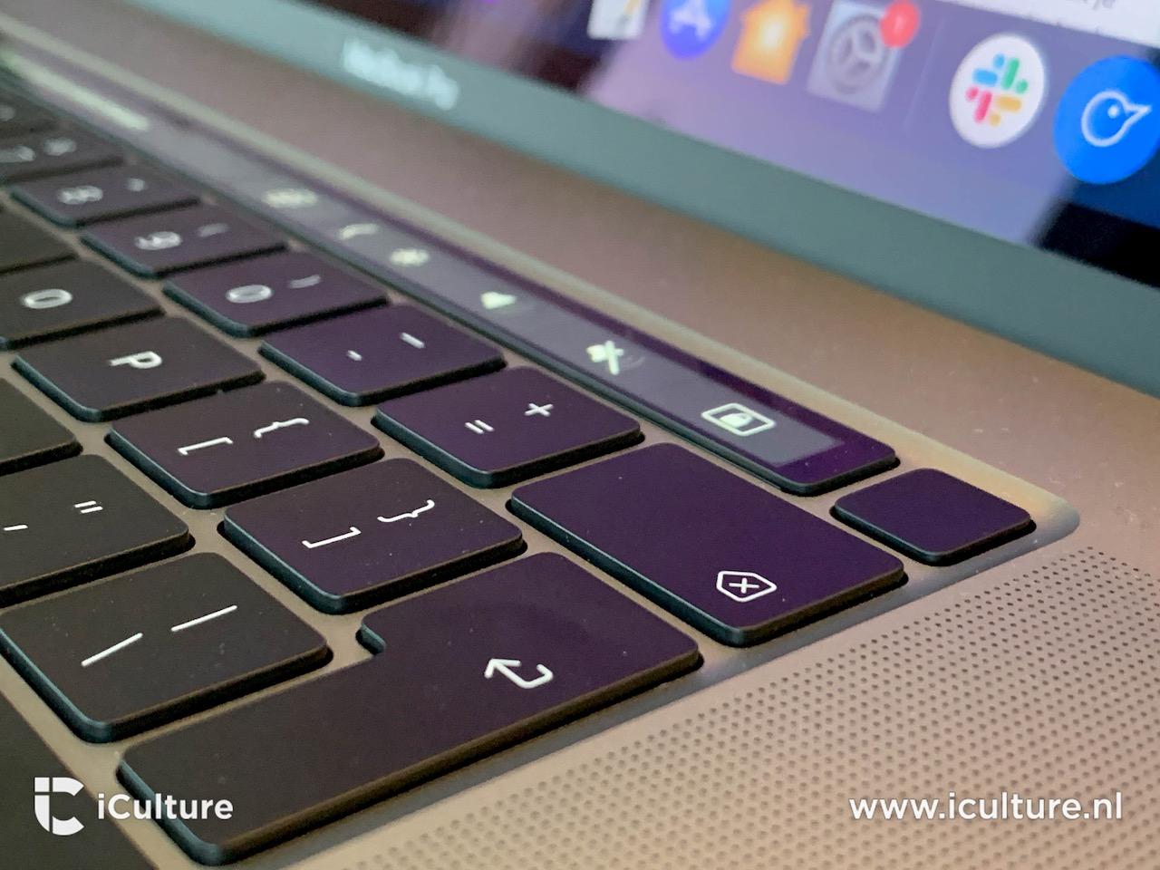 MacBook Pro 16-inch toetsenbord Touch ID