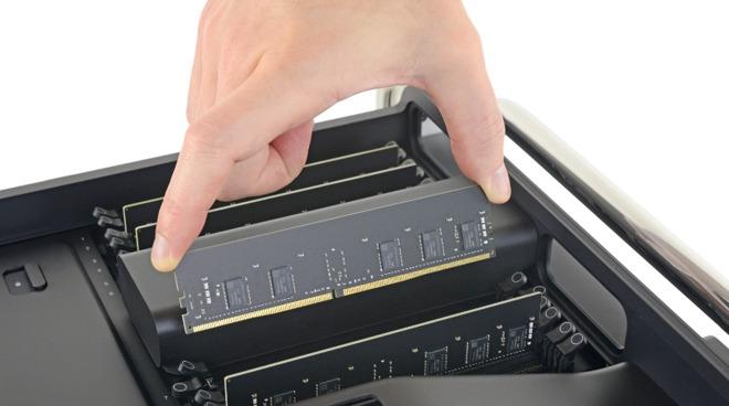 iFixit teardown RAM voor Mac Pro 2019