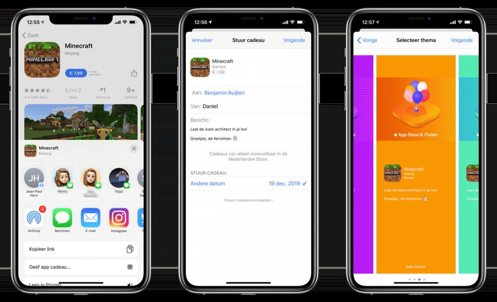 App of game cadeau geven App Store