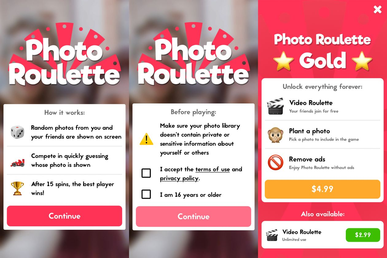 Photo Roulette