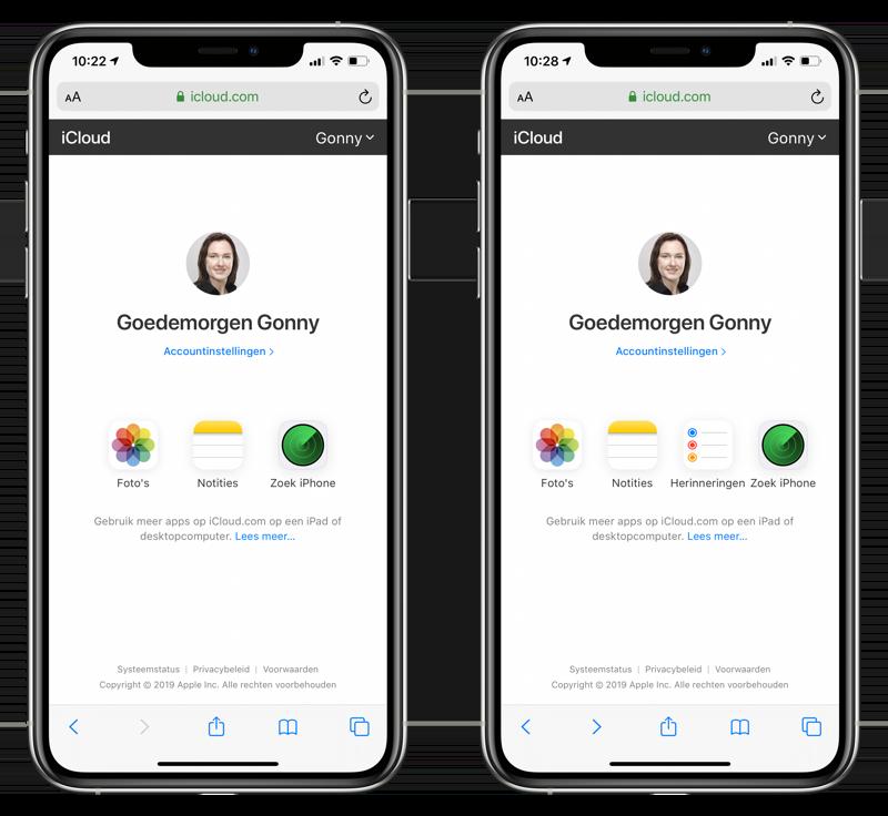 iCloud-apps mobiel geoptimaliseerd