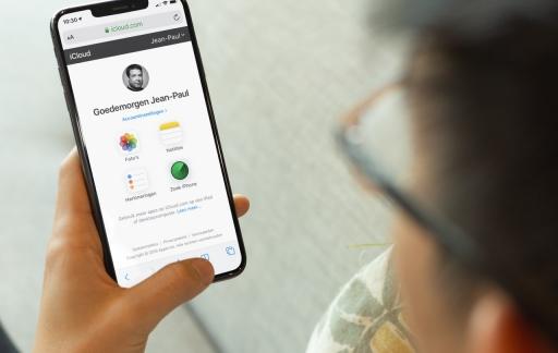 iCloud mobiel geoptimaliseerd