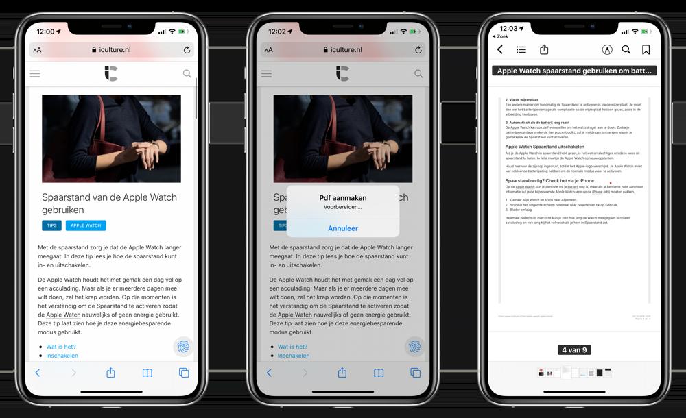 PDF maken via iBooks