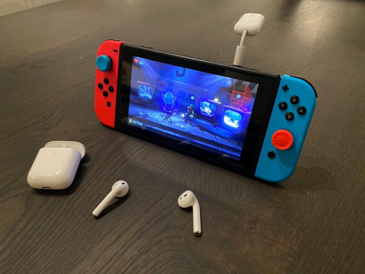 AirFly Pro op Nintendo Switch.