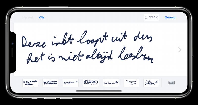 Handgeschreven bericht iMessage