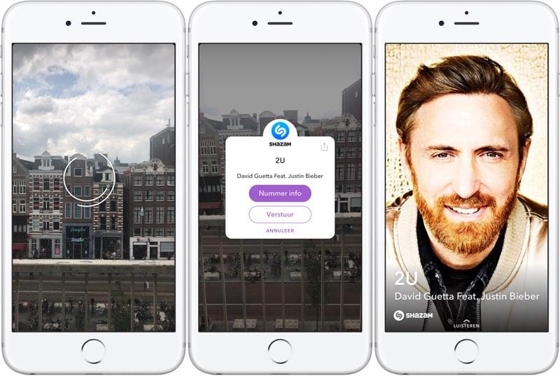 Shazam in Snapchat
