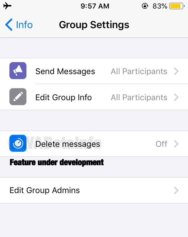 WhatsApp verwijder berichten in groepen automatisch.
