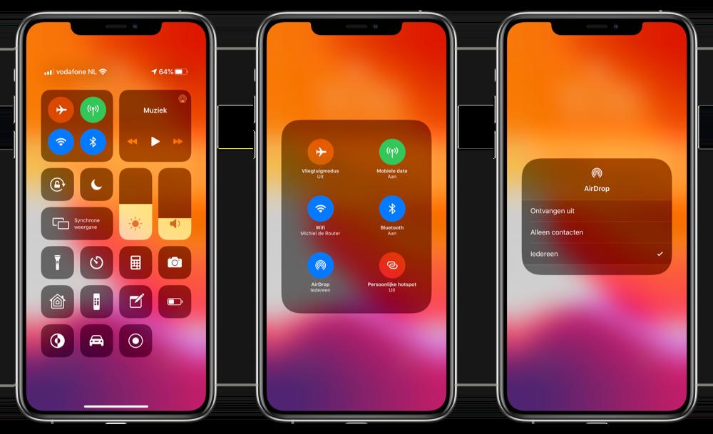 AirDrop instellen iPhone