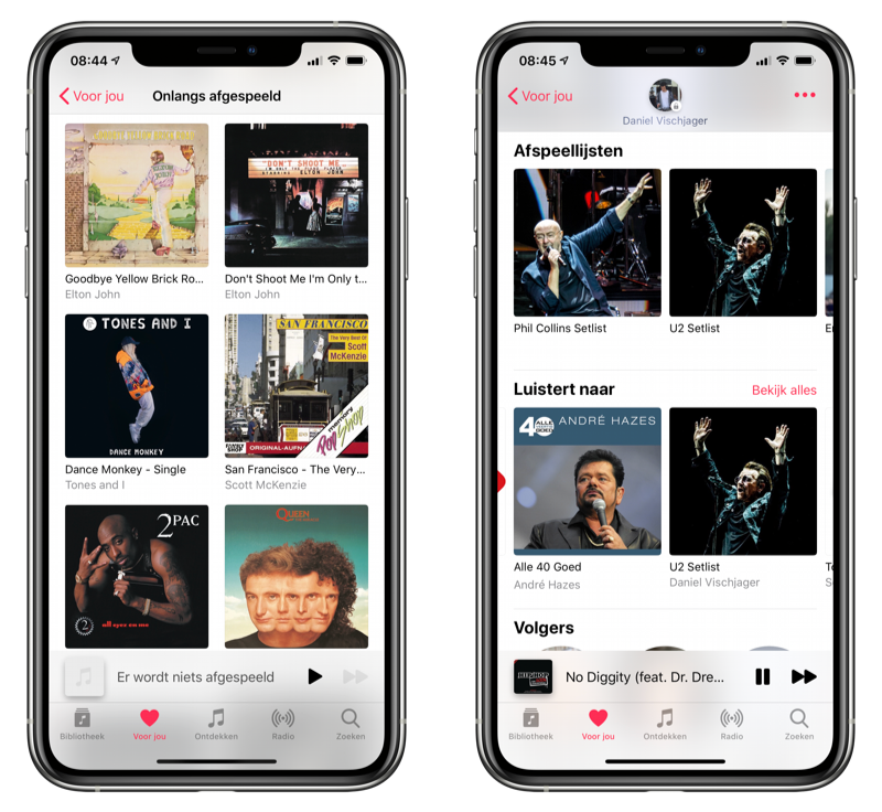 Luistergeschiedenis Apple Music