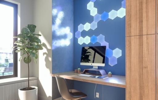 Nanoleaf Hexagon lampen.