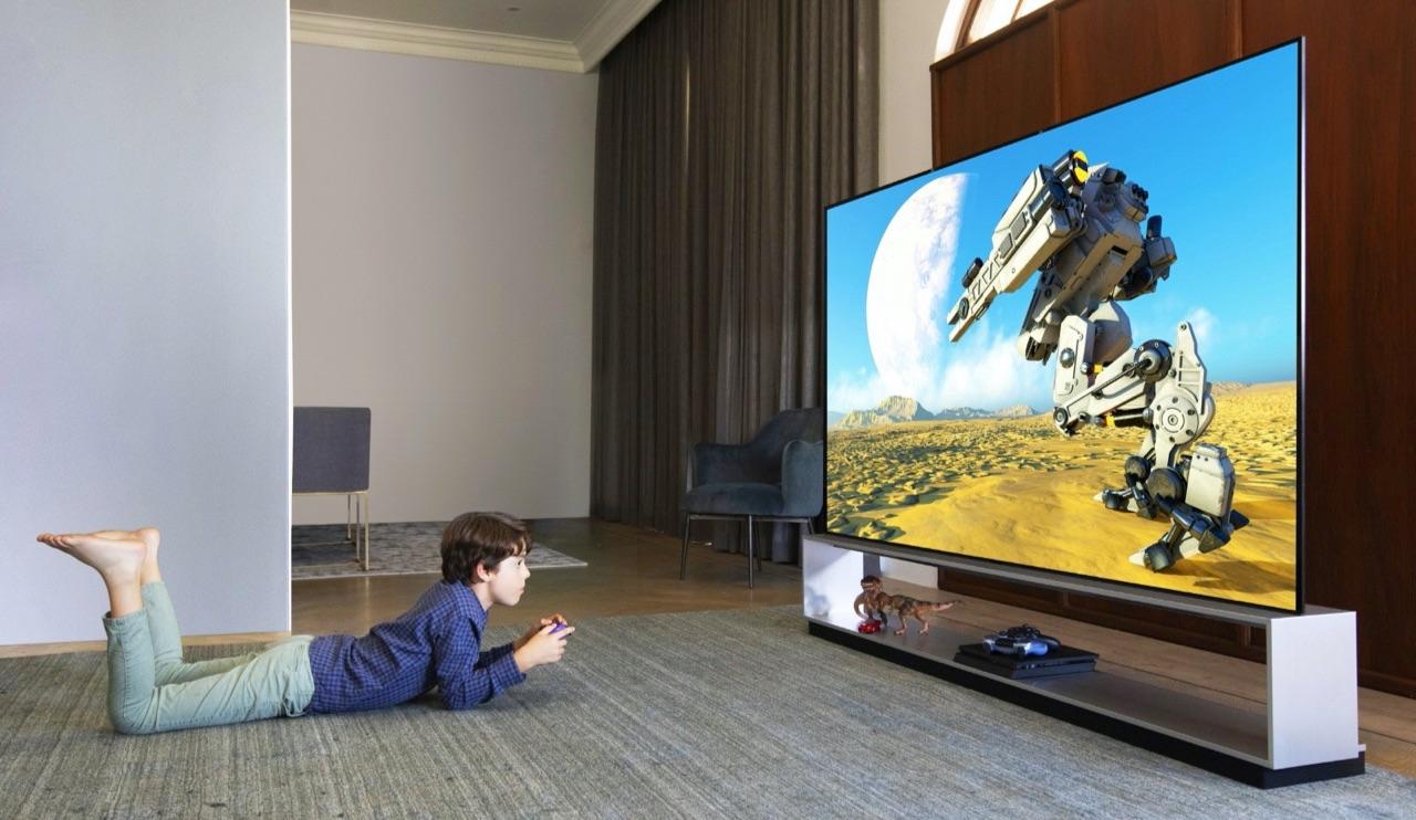 LG OLED 8K televisie.