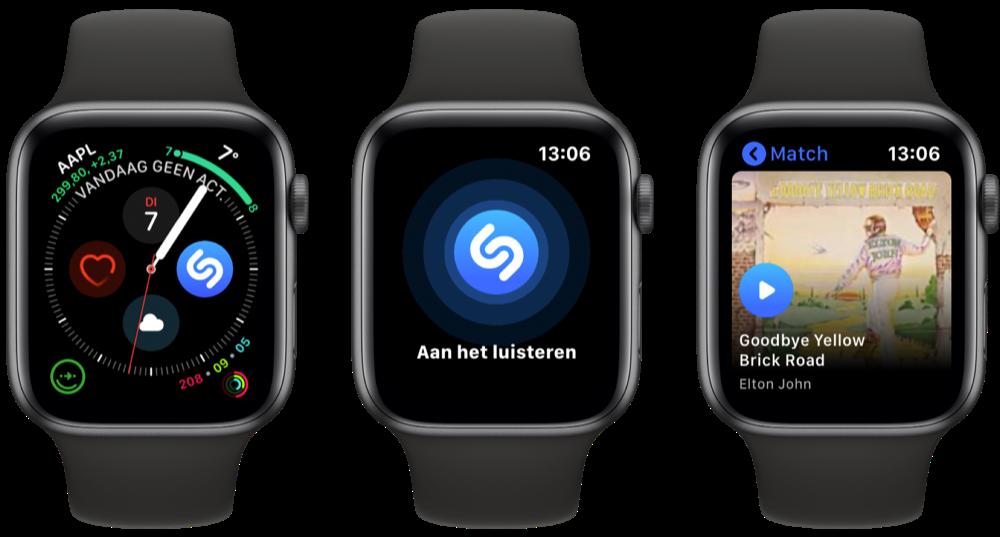 Apple Watch Shazam gebruiken