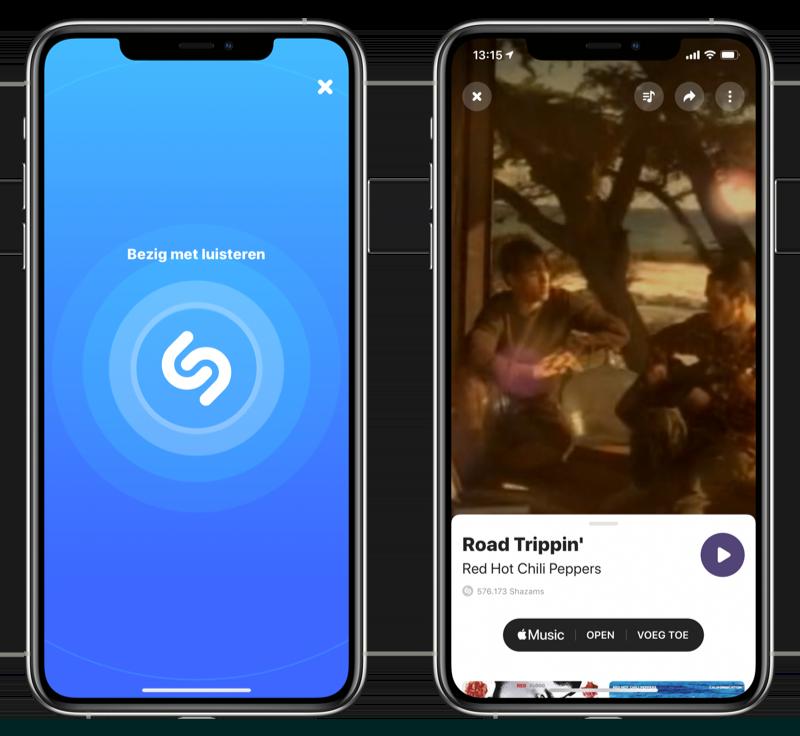 Shazam iPhone gebruiken