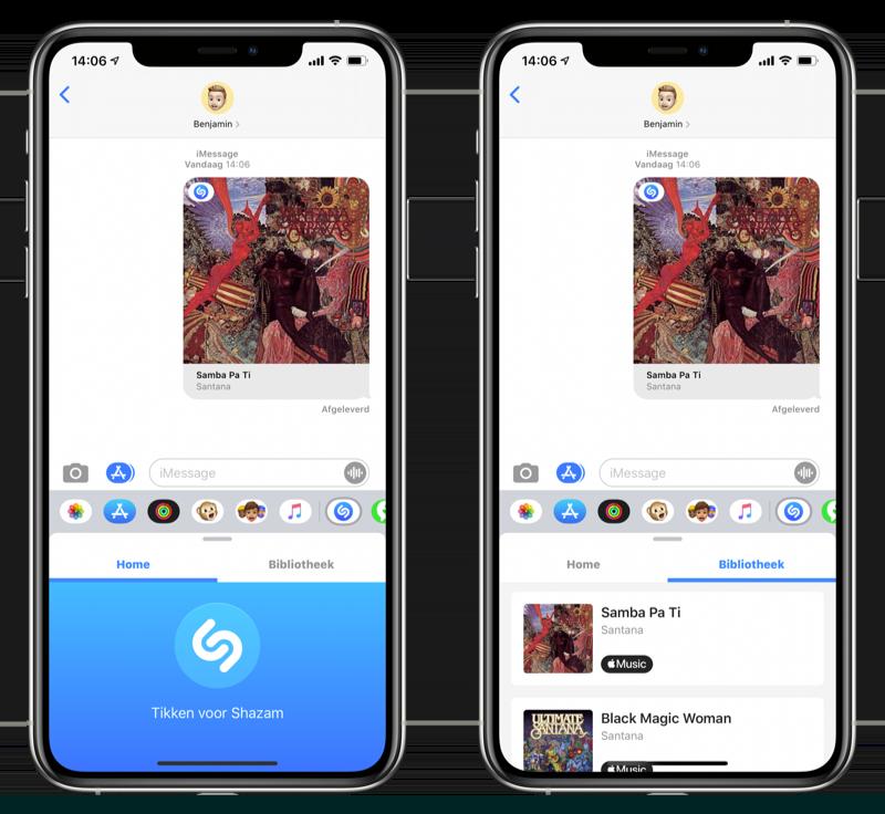 Shazam voor iMessage gebruiken