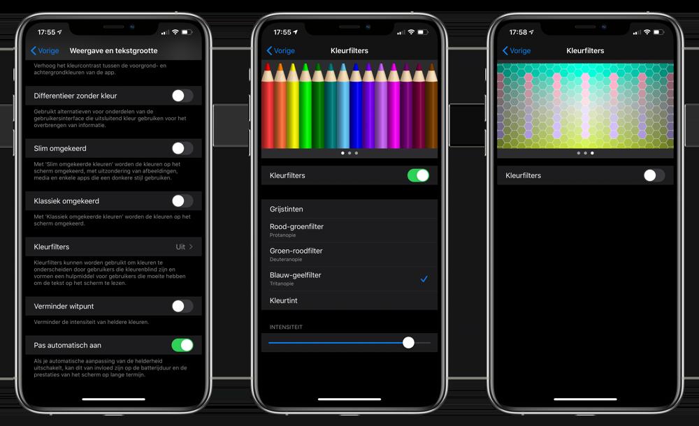 Kleurfilters voor kleurenblinden