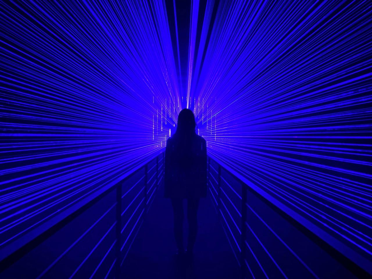 Shot on iPhone Night Mode Photo Challenge met lasers.