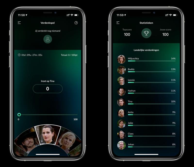 Wie is de Mol? app voor 2020 op iPhone.