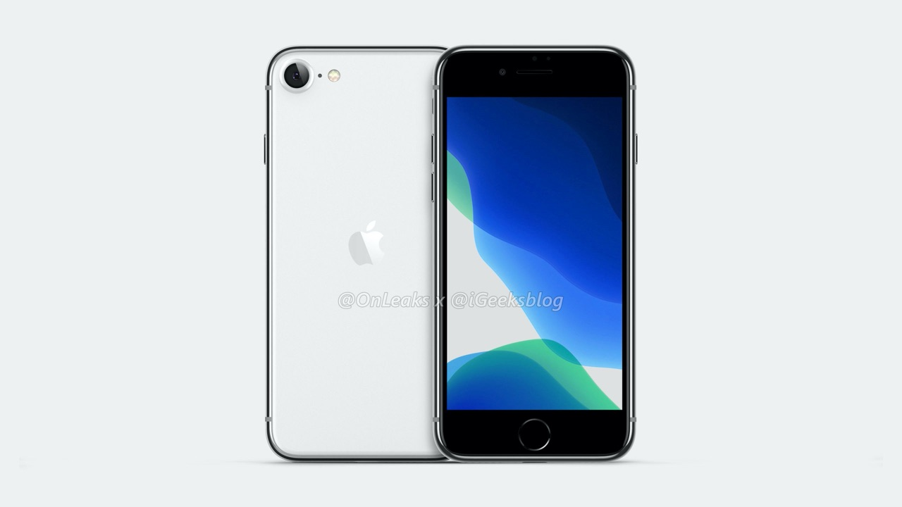 iPhone SE 2 render rechtop.
