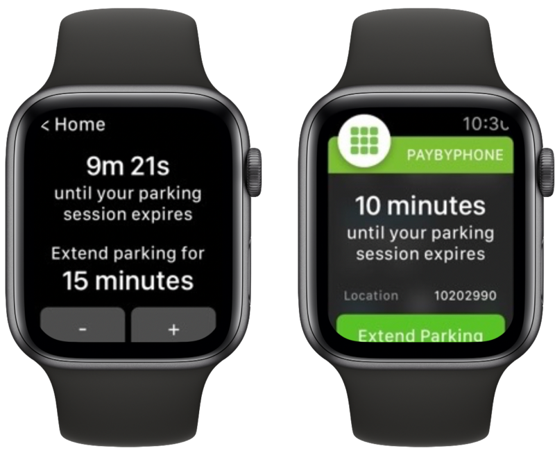 PayByPhone voor Apple Watch.
