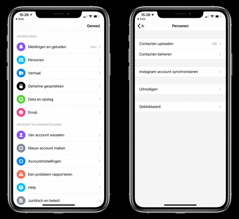 Messenger adresboek toegang geven